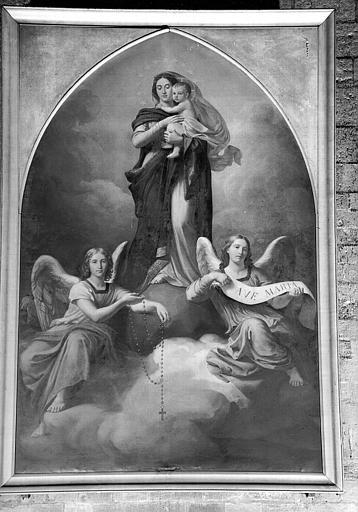Vierge et anges, peinture sur toile