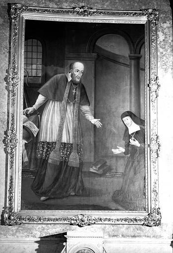 Saint François de Sales apparaissant à sainte Jeanne de Chantal, peinture sur toile