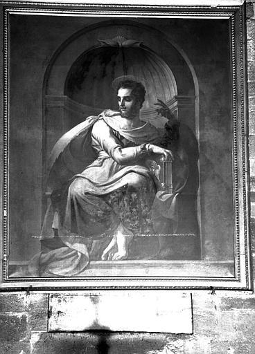 Un évangéliste (saint Mathieu), peinture sur toile