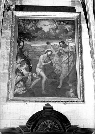 Baptême du Christ, peinture sur toile