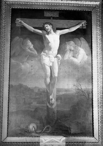 Christ en Croix, peinture sur toile