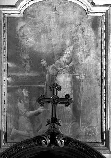 Un pape bénissant un enfant, peinture sur toile