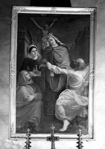 Sainte Elisabeth de Hongrie, peinture sur toile