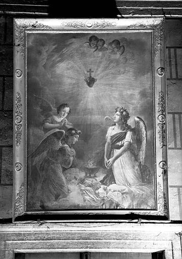 Les Anges adorant le Sacré-Coeur, peinture sur toile