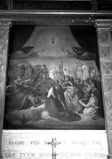 Adoration du Sacré-Coeur, peinture sur toile