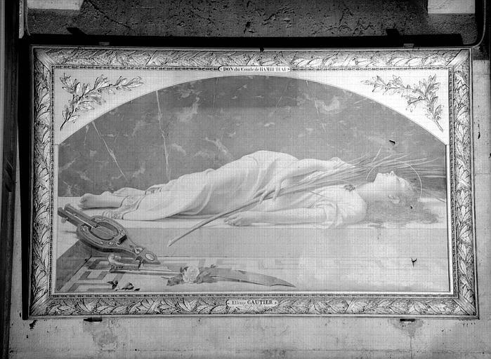 Sainte Cécile, peinture sur toile
