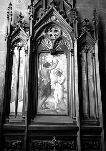 Retable peint : Baptême du Christ