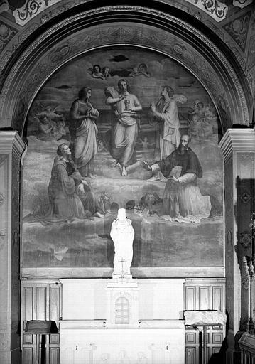 Peinture murale : Le Christ entre la Vierge, Saint-Jean, Sainte-Madeleine et Saint-François de Sales
