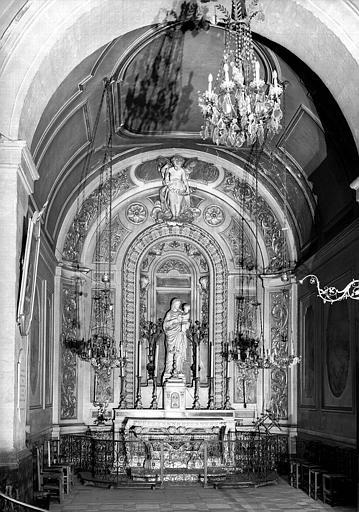 Autel, statue de la Vierge à l'enfant, chapelle de la Vierge