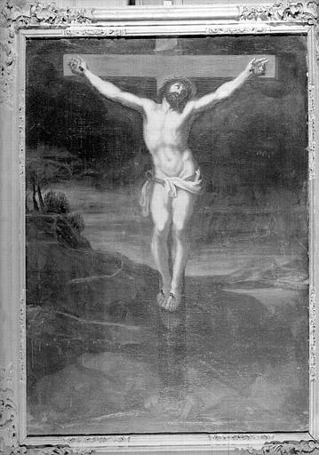 Christ en croix, peinture sur toile de la chapelle Saint-Bruno
