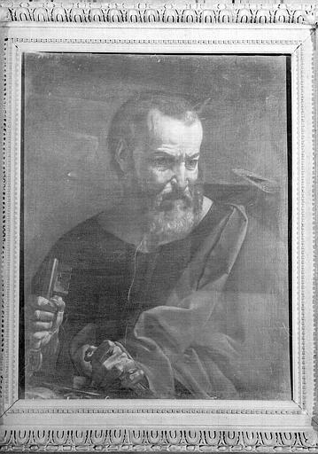 Saint Pierre, peinture sur toile de la chapelle Saint-Bruno