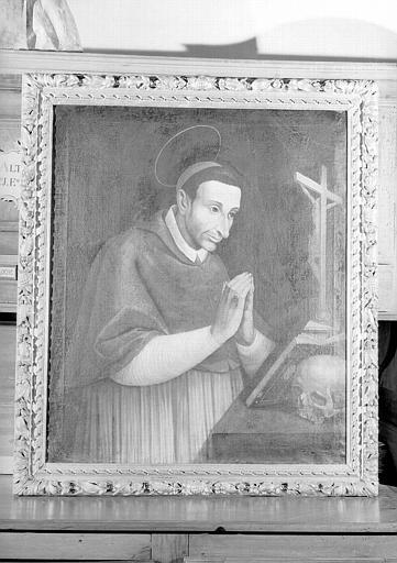 Saint Charles Borromée en prière, peinture sur toile de la chapelle Saint-Bruno