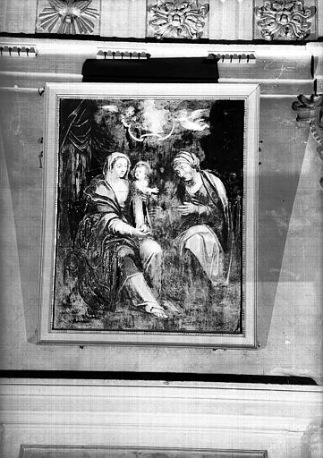 Vierge avec l'Enfant et sainte Anne, peinture sur toile de la chapelle Saint-Bruno