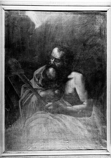 Saint Jérôme, peinture sur toile de la chapelle Saint-Bruno