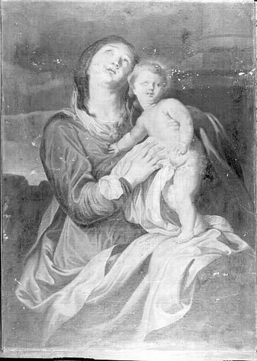 Vierge à l'Enfant, peinture sur toile de la chapelle Saint-Bruno