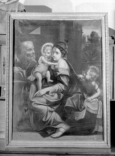 Sainte Famille, peinture sur toile de la chapelle Saint-Bruno