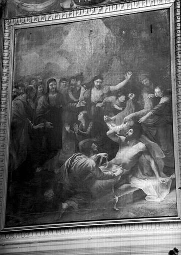 Résurrection de Lazare, peinture sur toile de la chapelle