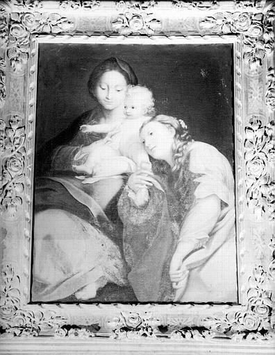 Vierge à l'Enfant avec une sainte, peinture sur toile de la chapelle
