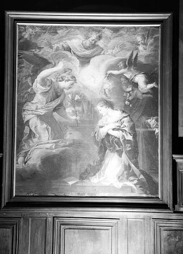 Annonciation, peinture sur toile de la chapelle