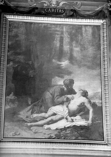 Le bon Samaritain, peinture sur toile de la chapelle