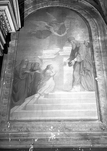 Chapelle, peinture murale : Présentation de la Vierge au temple