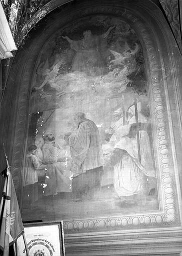 Chapelle, peinture murale : La Communion