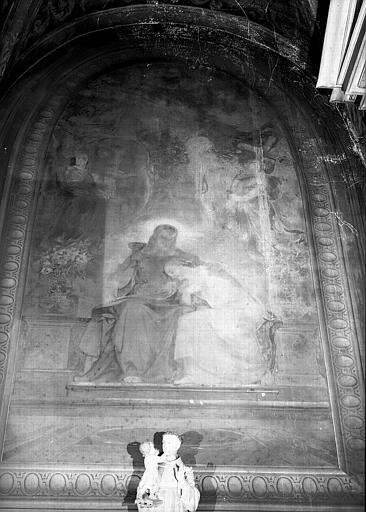 Chapelle, peinture murale : Jésus et Saint-Jean