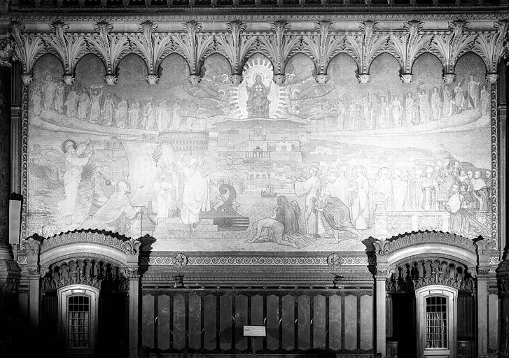 Mosaïque : Saint-Pothin apporte à Lugdunum le christianisme et le culte de Marie