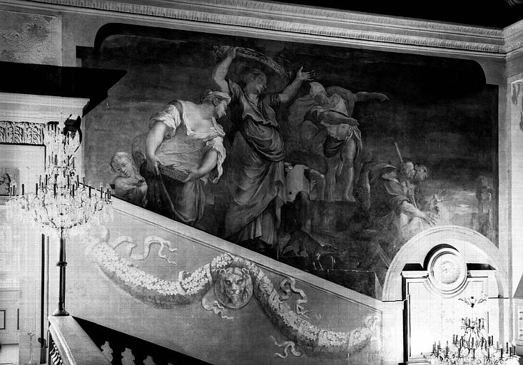 Grand escalier, décor