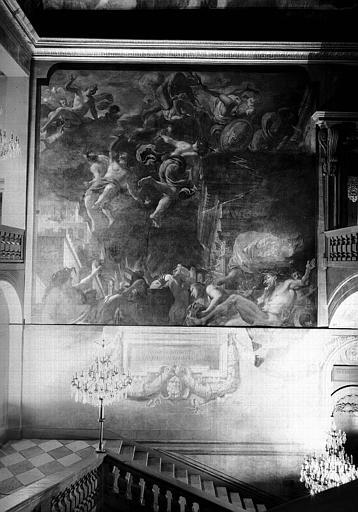 Grand escalier, paroi ouest : L'Incendie de Lyon sous Néron