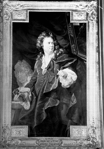 Portrait de Coysevox, peinture sur toile