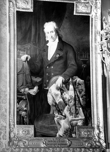 Portrait de Jacquart, peinture sur toile