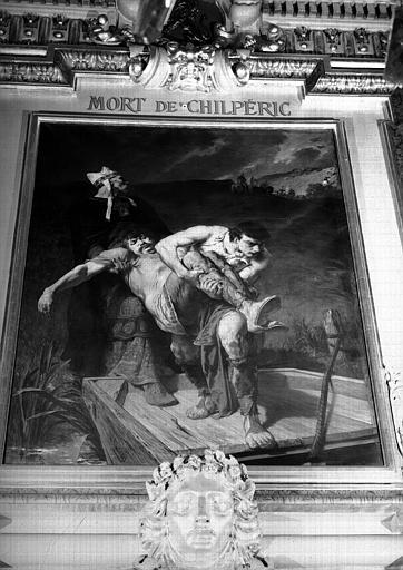 Mort de Chilpéric, peinture sur toile du salon Louis XIII