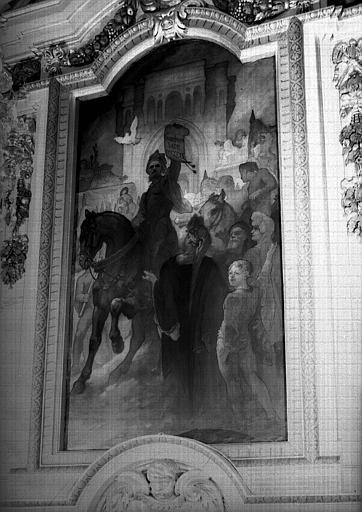 Salle Henri IV, peinture : Affranchissement de la commune de Lyon en 1320
