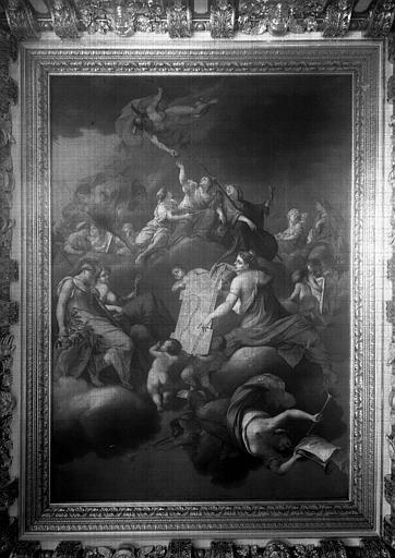 Salle du Consulat, peinture du plafond : La grandeur consulaire de Lyon