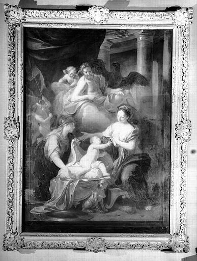 La naissance d'Hercule, peinture sur toile du cabinet d'Hercule