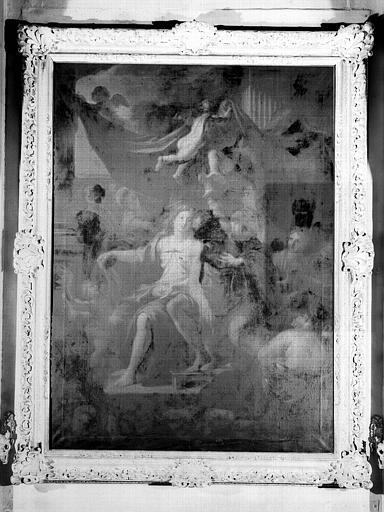 Education d'Hercule, peinture sur toile du cabinet d'Hercule
