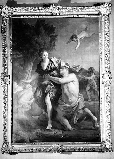 Enlèvement de Déjanire, peinture sur toile du cabinet d'Hercule