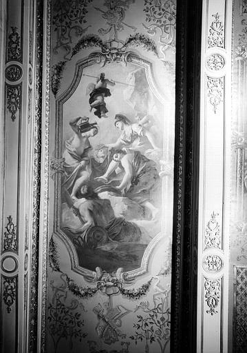 Peinture du plafond du cabinet de Minerve : Minerve au bain