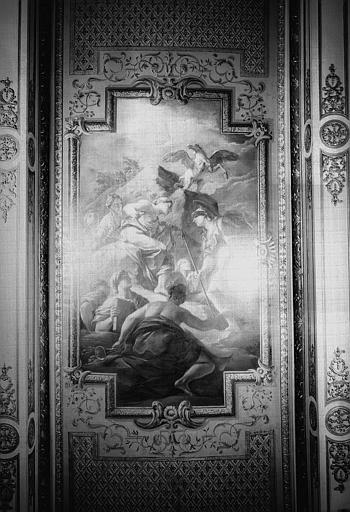 Peinture du plafond du cabinet de Minerve : Minerve et les muses