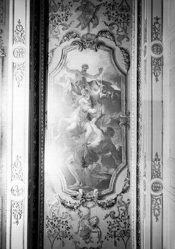 Peinture du plafond du cabinet de Minerve : Combat de Minerve contre les Titans