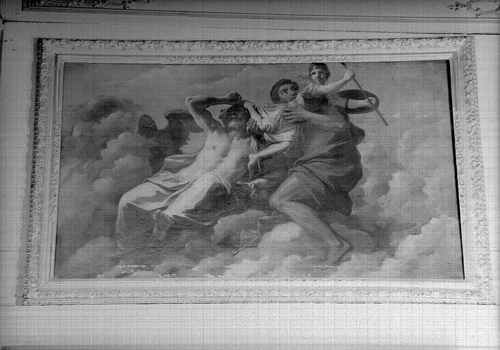Naissance de Minerve, peinture sur toile du cabinet de Minerve