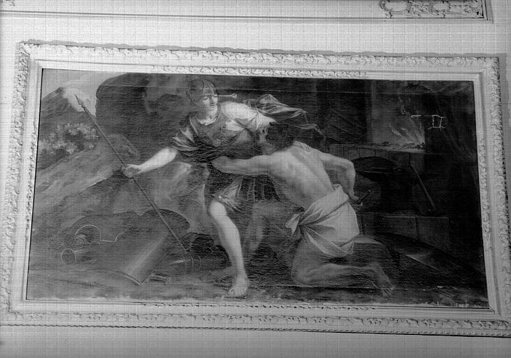 Minerve et Vulcain, peinture sur toile du cabinet de Minerve