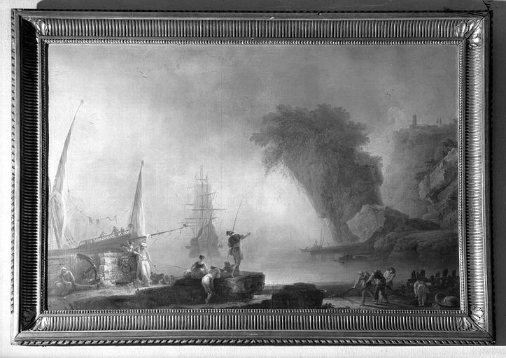 Marine, peinture sur toile