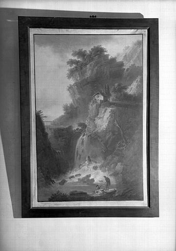 Cascade, peinture sur toile