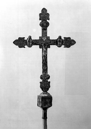 Croix processionnelle en argent (avers)