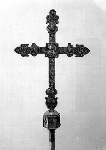 Croix processionnelle en argent (revers)