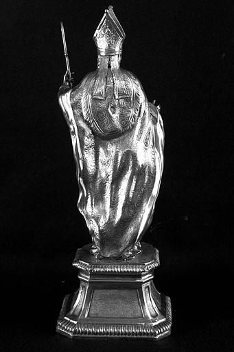 Statuette en argent de saint Martin, dos