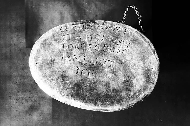 Bras reliquaire en argent, inscription