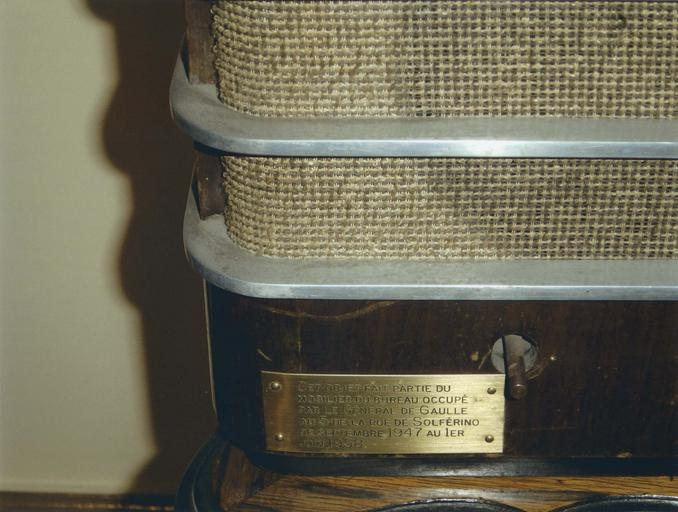 Bureau du Général de Gaulle : poste de radio